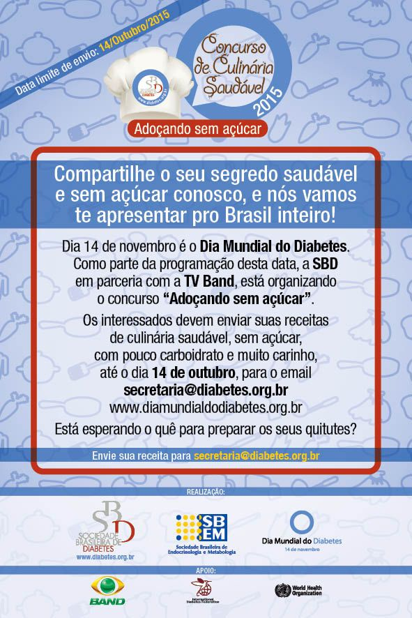 Cartaz Culinária e Dia Mundial do Diabetes