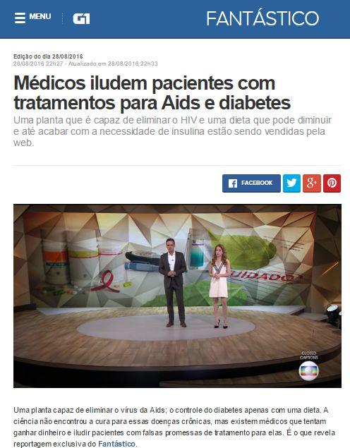 reportagem diabetes fantastico